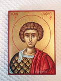 George Great Martyr portrait Greek Icon 5x6