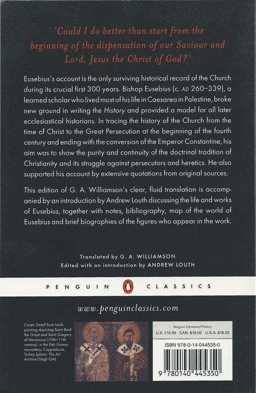 History of the Church Eusebius