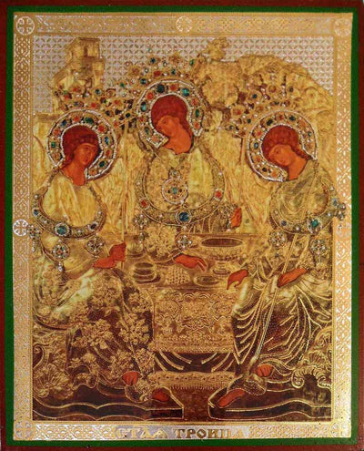 Holy Trinity by Rublev riza
