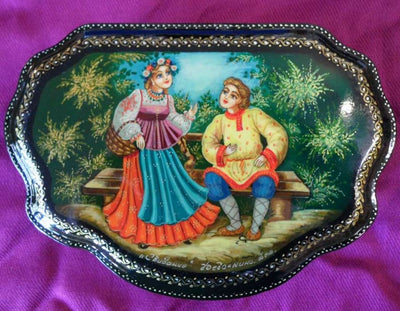 Lacquer Box Couple Courting