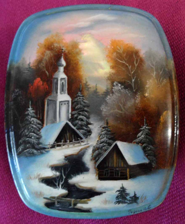 Lacquer Box Forest Church 01