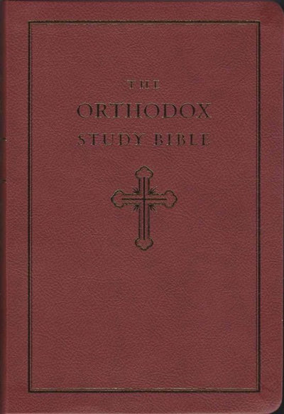 Orthodox Study Bible red leathersoft