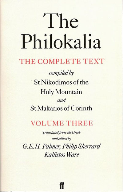 Philokalia Volume 3