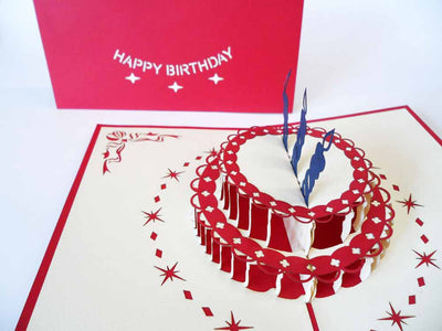 Pop Up Card 017 Birthday Cake