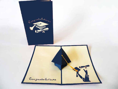 Pop Up Card 023 Graduation Cap