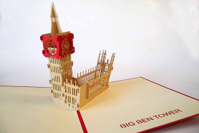 Pop Up Card 097 Big Ben Tower
