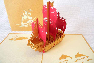 Pop Up Card 103br Sailing Ship
