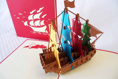 Pop Up Card 103m Sailing Ship
