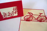 Pop Up Card 113 Red Bicycle