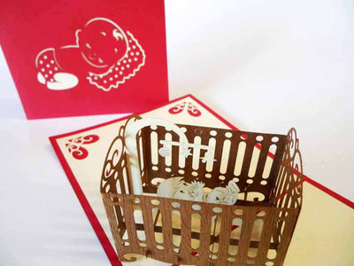 Pop Up Card 125 Baby Crib
