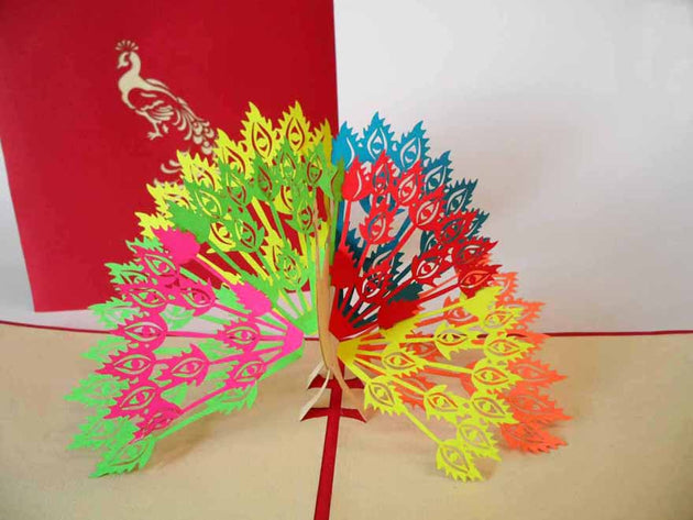 Pop Up Card 132 Peacock
