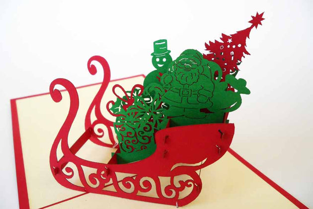 Pop Up Card 147 Christmas Sleigh