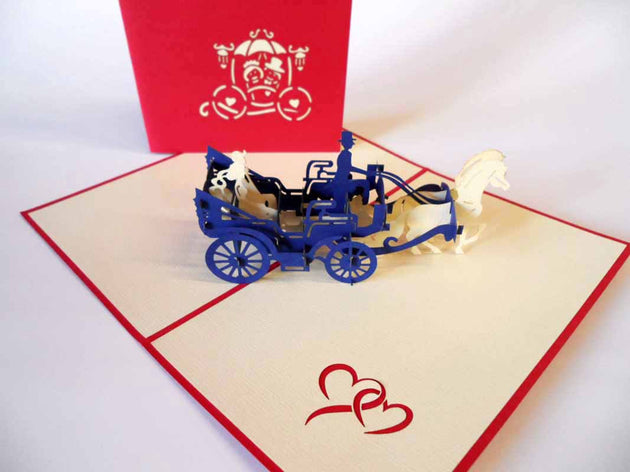 Pop Up Card 163 Elegant Carriage