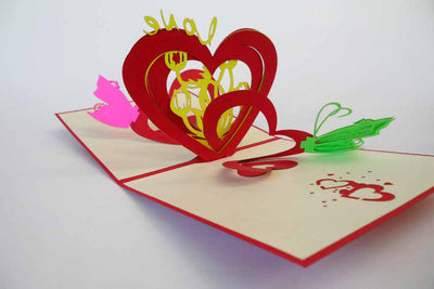 Pop Up Card 168 Love Butterflies
