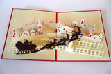Pop Up Card 191 Christmas Night Reindeer