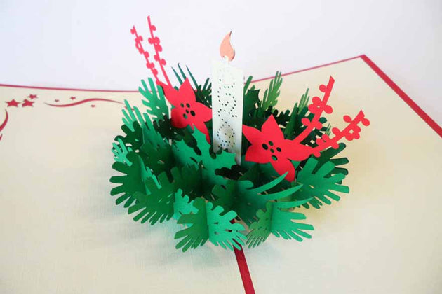 Pop Up Card 192 Christmas Candle