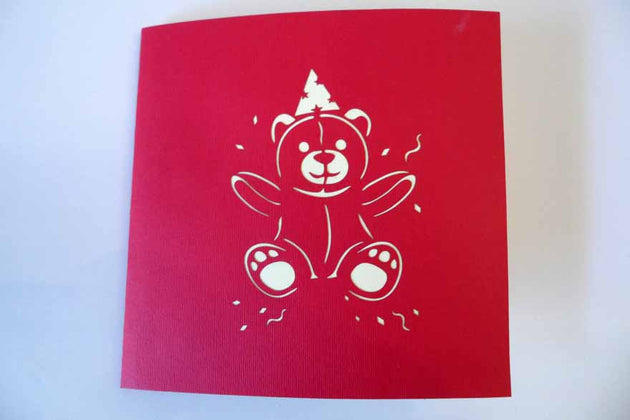 Pop Up Card 200 Birthday Bear