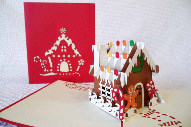 Pop Up Card 206 Gingerbread House