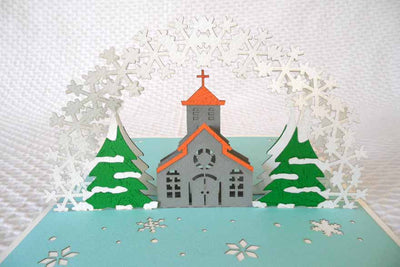 Pop Up Card 209 Church blue