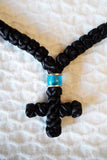 Mount Athos Prayer Rope 100 BLK TEAL Bds