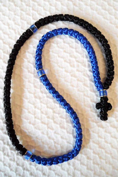 Mount Athos Prayer Rope 100 BLU BLK C2