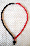 Mount Athos Prayer Rope 100 RED BLK C1