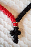 Mount Athos Prayer Rope 100 RED BLK C2