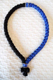 Mount Athos Prayer Rope 50 BLU BLK C2