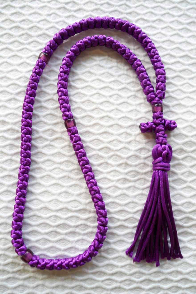 Mount Athos Prayer Rope 100 PUR PURbds CT