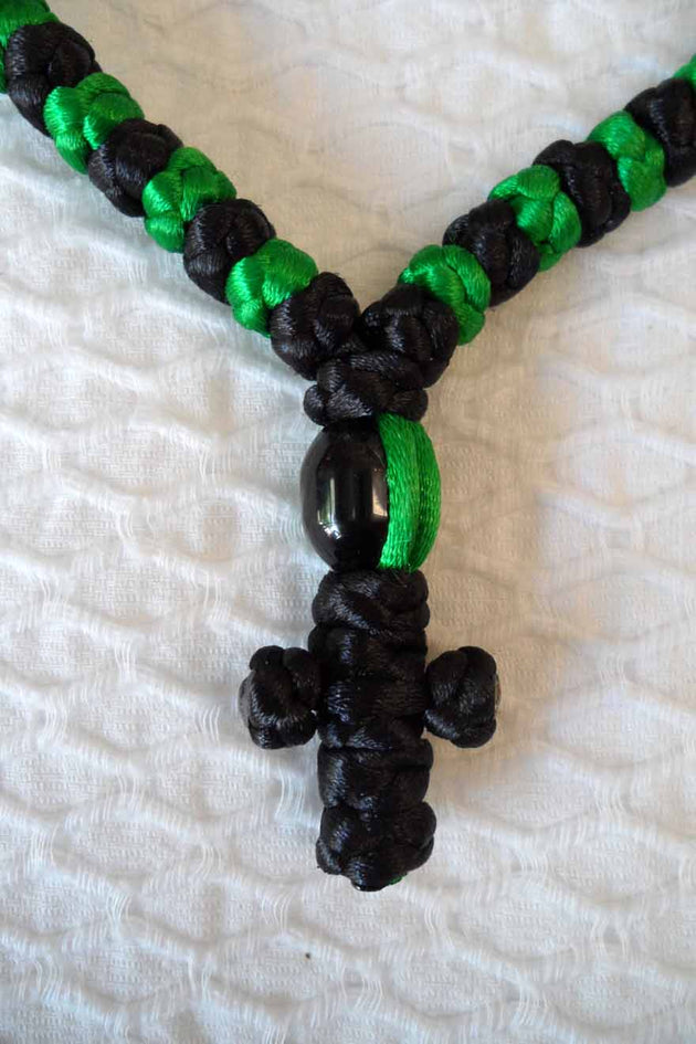 Mount Athos Prayer Rope 100 GRN BLK BLKbd C