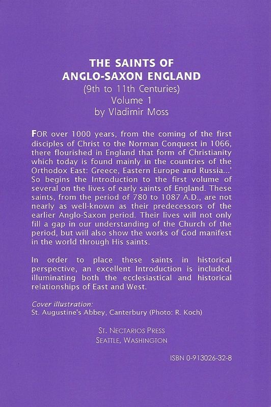 Saints Anglo-Saxon England Volume 1