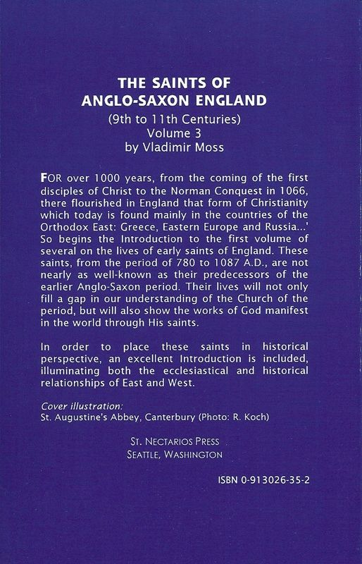 Saints Anglo-Saxon England Volume 3
