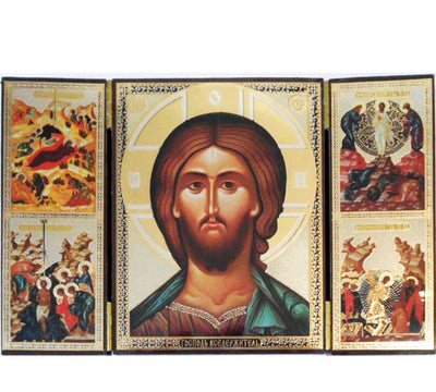 Christ portrait Triptych004