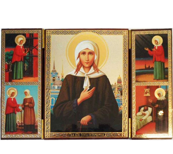 Xenia Fool for Christ of St Petersburg Triptych010