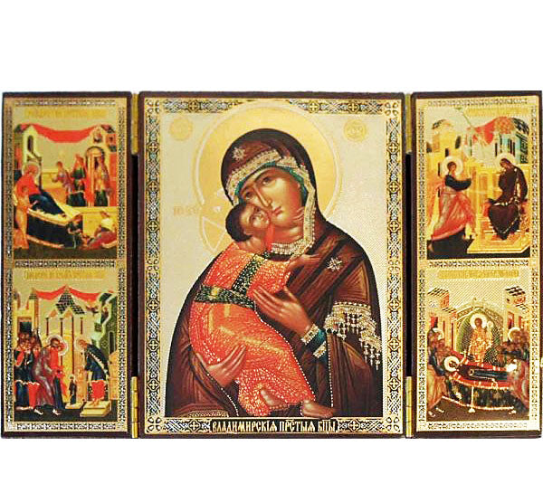 Vladimir Mother of God Triptych014