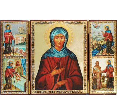 Xenia Fool for Christ of St Petersburg Triptych018