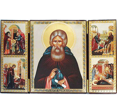 Sergius of Radonezh Saint Triptych019