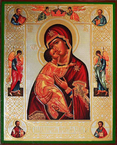 Vladimir Mother of God with Evangelists