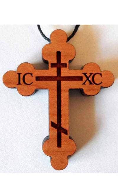 WC Budded Orthodox Cross