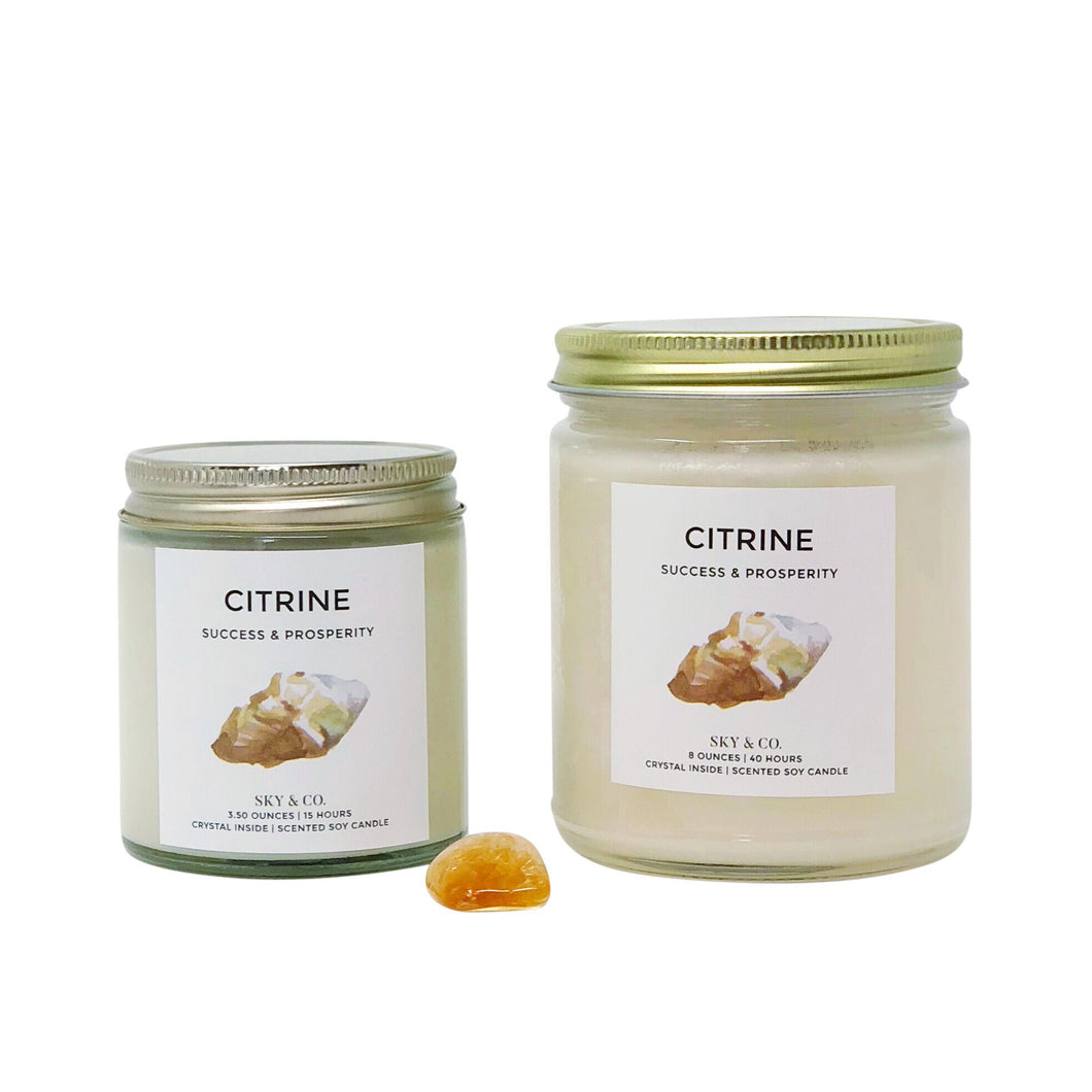 Citrine Candle - Crystal Infused Candle