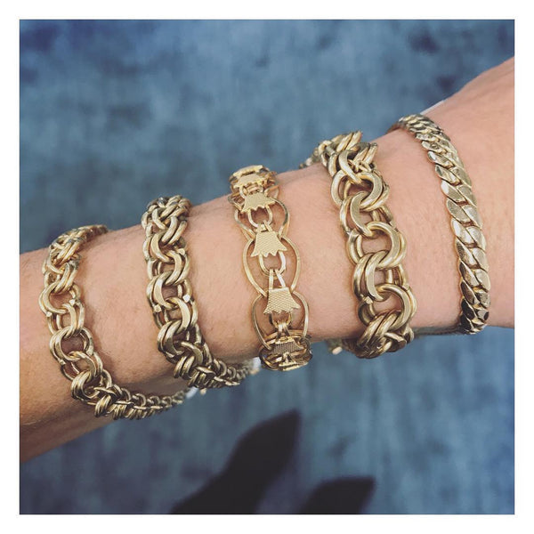 Solid Gold Chain Bracelets