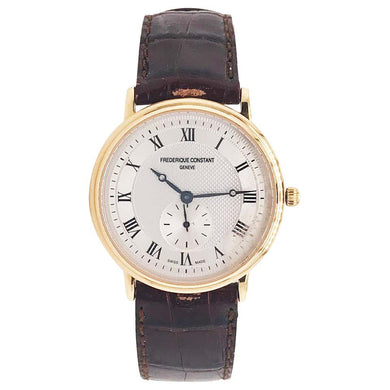 Frederique Constant Slimline Gent's Small Seconds Watch Leather Band Waterproof