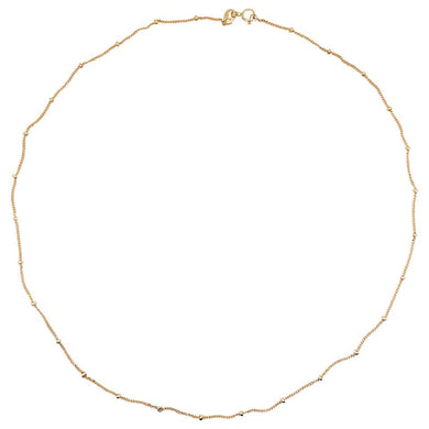 Beaded Curb Chain, 14 Karat Solid Yellow Gold, Best Selling Gold Chain, 14 Karat