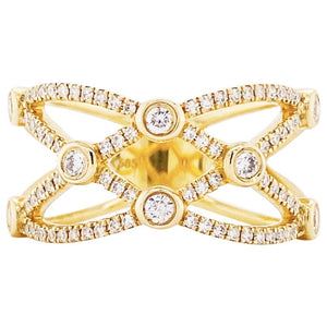Diamond Weave Wide Fashion Band