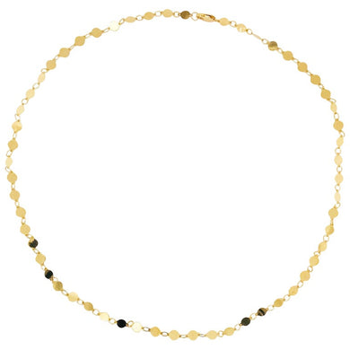 Mirror Link Chain Necklace 14K Gold