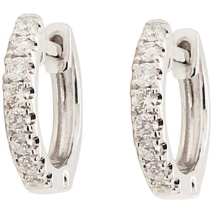 .25 Carat Diamond 14 Karat Gold Huggie Hoop Earrings