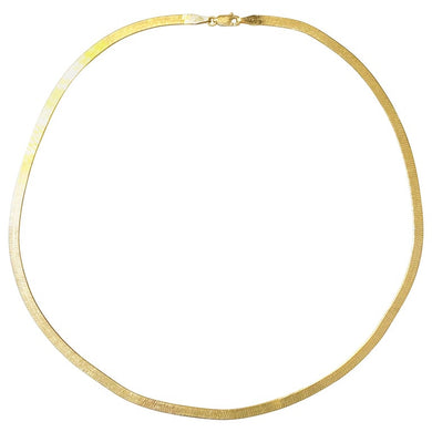 Italian Herringbone Chain 14K Yellow Gold