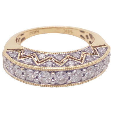 1.50 Carat Diamond Fashion Bombe Ring Band