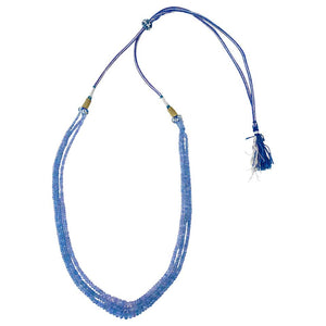 Adjustable Tanzanite Beaded Necklace