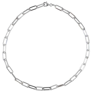 5.9mm Paperclip Necklace in Sterling Silver